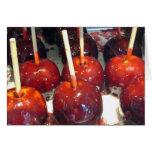 Manzanas de caramelo tarjetas
