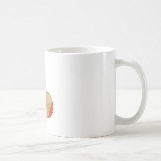 Manzanas de caramelo taza básica blanca