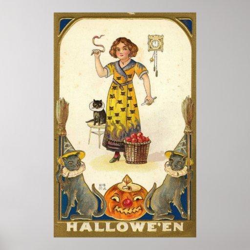 Manzanas de Halloween Impresiones