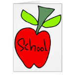 Manzanas de la escuela tarjeton