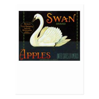 Manzanas de la marca del cisne tarjetas postales