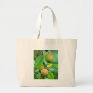 Manzanas de la paloma bolsa tela grande