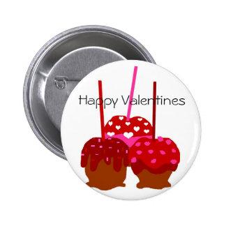 Manzanas de las tarjetas del día de San Valentín,  Pin Redondo De 2 Pulgadas