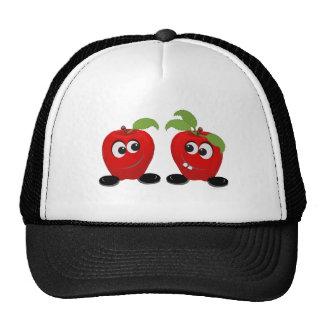 Manzanas de los mejores amigos gorro