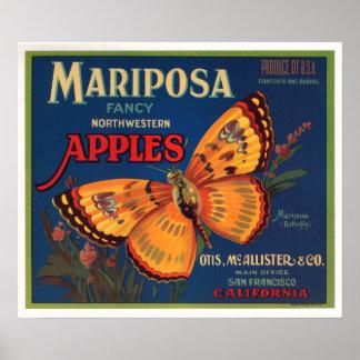 Manzanas de Mariposa Impresiones