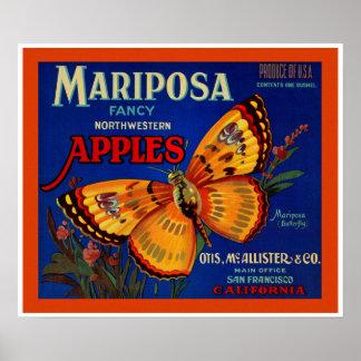 Manzanas de Mariposa Póster