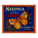 Manzanas de Mariposa Posters