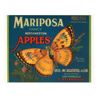 Manzanas de Mariposa Postal