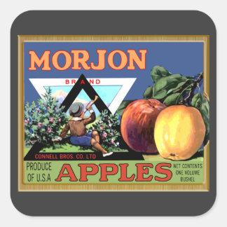 Manzanas de Morjon Calcomanías Cuadradases