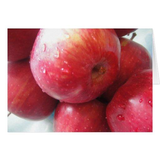 Manzanas de motivación de la tarjeta de
