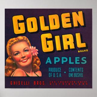 Manzanas de oro del chica póster