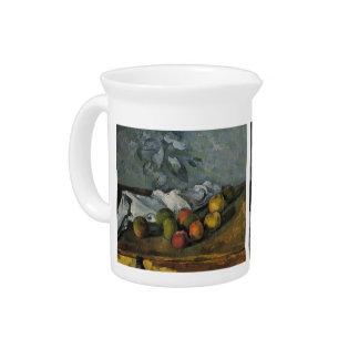Manzanas de Paul Cezanne- y una servilleta Jarras Para Bebida