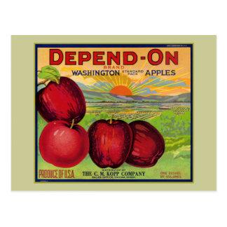 Manzanas de Washington Tarjetas Postales