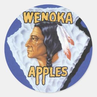 Manzanas de Wenoka Pegatina Redonda