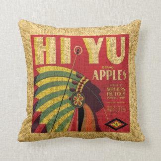 Manzanas de Yu de la etiqueta de la fruta del vint Almohada