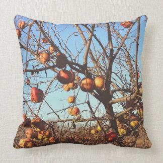 Manzanas del arte fotográfico de la caída cojín decorativo