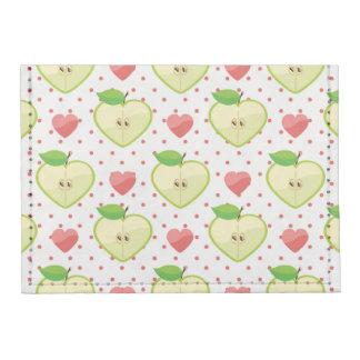 Manzanas del corazón con los lunares y los tarjeteros tyvek®