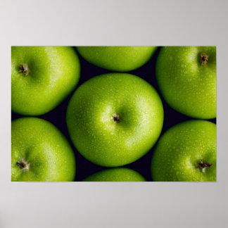 Manzanas del granny smith posters