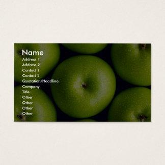 Manzanas del granny smith tarjetas de visita