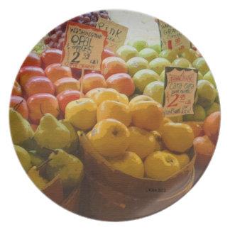 Manzanas del mercado - el mercado de lugar de Pike Plato De Comida