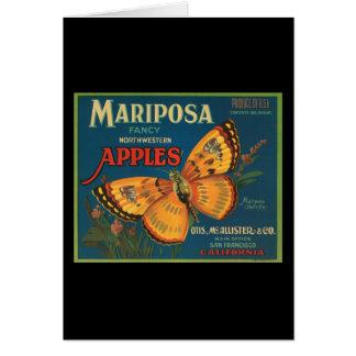 Manzanas del noroeste de lujo de Mariposa Felicitaciones