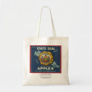 Manzanas del sello del estado de Idaho Bolsa Tela Barata
