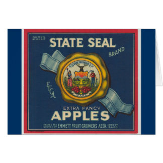 Manzanas del sello del estado de Idaho Tarjeta