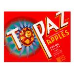 Manzanas del Topaz Tarjeta Postal