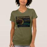 Manzanas del valle de Pajaro del búfalo Camisetas