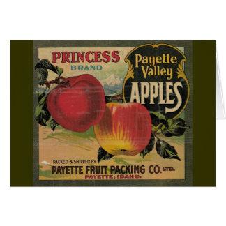 Manzanas del valle de Payette Tarjetón