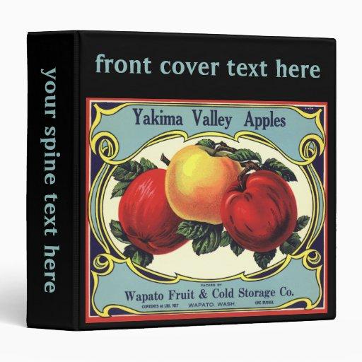 "Manzanas del valle de Yakima del arte de la Carpeta 1 1/2"""