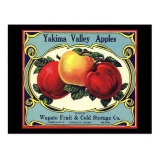 Manzanas del valle de Yakima del arte de la Postales