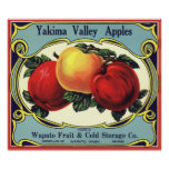 Manzanas del valle de Yakima del arte de la Póster