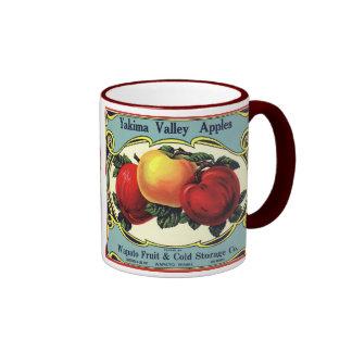 Manzanas del valle de Yakima del arte de la Taza De Dos Colores
