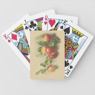 Manzanas del vintage cartas de juego