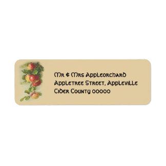 Manzanas del vintage etiquetas de remite