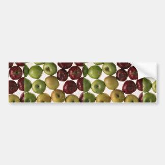 Manzanas deliciosas pegatina de parachoque