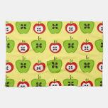 Manzanas en Background.jpg amarillo Toallas