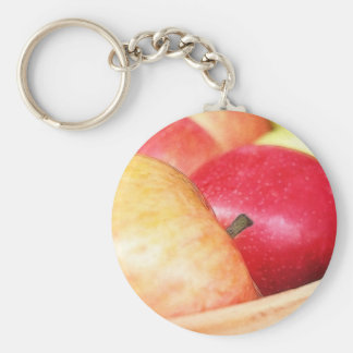 Manzanas en el mercado de los granjeros llavero
