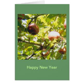 Manzanas en luz del sol y sombra tarjeta de felicitación