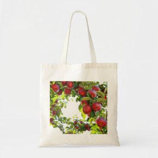 Manzanas en una rama bolsa tela barata