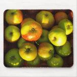 manzanas - estera del ratón alfombrilla de raton