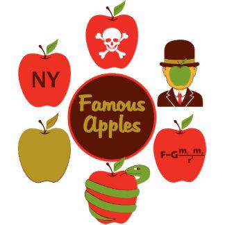 Manzanas famosas esculturas fotográficas