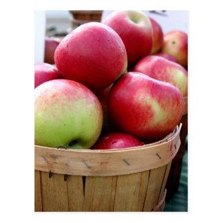 Manzanas frescas postal