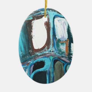 Manzanas intrépidas redondas abstractas adorno ovalado de cerámica
