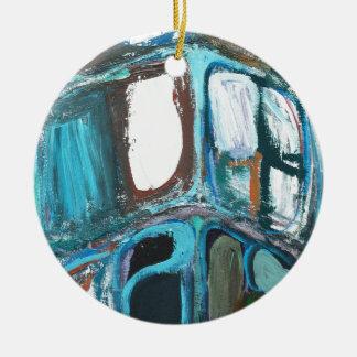 Manzanas intrépidas redondas abstractas adorno redondo de cerámica