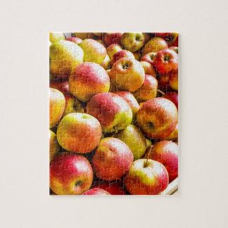 Manzanas maduras frescas puzzle
