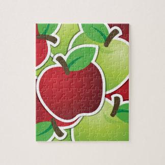 Manzanas mezcladas enrrolladas puzzle