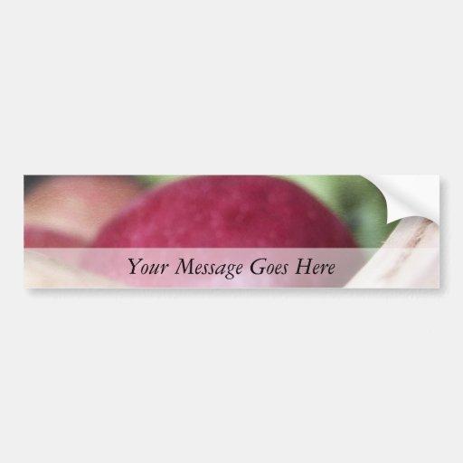 Manzanas orgánicas frescas etiqueta de parachoque
