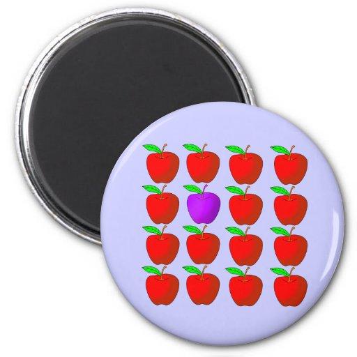 Manzanas para las camisetas y los productos de la  imán para frigorifico